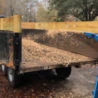 Wood Chipper in action