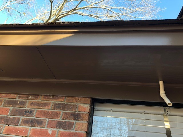 Newly Repaired soffit and fascia.