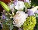 Green, Purple & White Bridal Bouquet