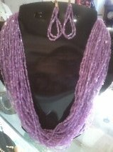02 seed bead necklace & earrings