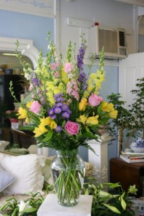 vase of pastels sympathy