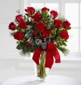 Holiday Dozen Roses