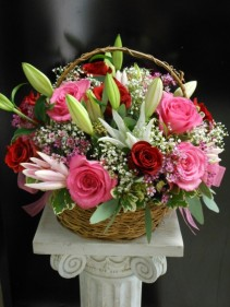 Basket of ... lots of pinks.