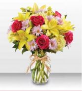 1-800 Flowers Fields of Europe for Mom Vase Arrangement