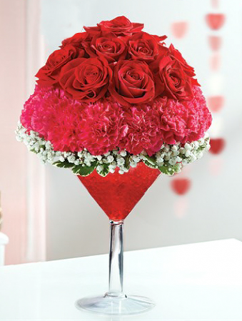 1-800-Flowers® Love Potion Martini bouquet
