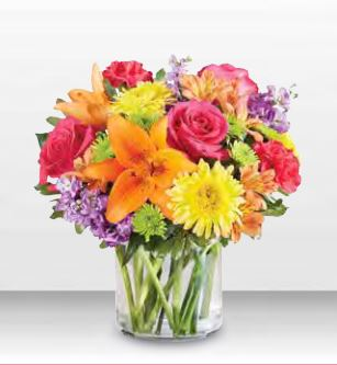 1-800 Flowers Vibrant Beauty Bouquet Vase Arrangement