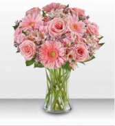 1-800 For All She Does Bouquet Vase Arrangement