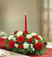 1 Candle Christmas Centerpiece Christmas Centerpiece