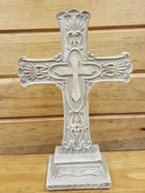 Stone Cross  (10 Inch)  Statue