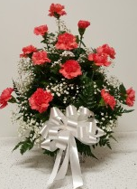 1 dozen carnation square vase (Red,White,Hotpink) Birth Day