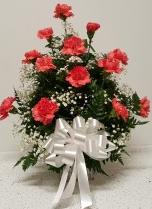 1 dozen carnation square vase (Red,White,Hotpink) Birth Day