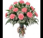 12 - 18 - 24 Carnations Vase Arrangement