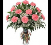 12 - 18 - 24 Carnations Vase Arrangement