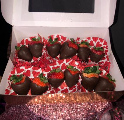 1 dozen chocolate covered strawberries