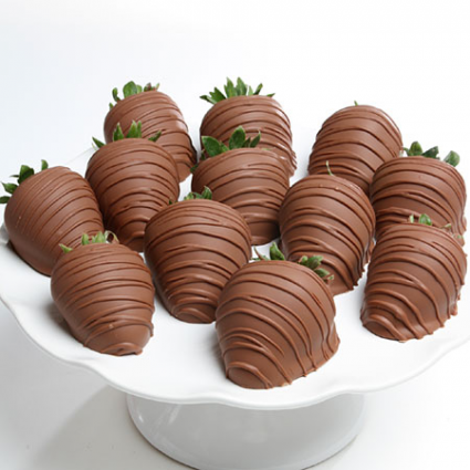1 Dozen Chocolate Dipped Strawberries fruit