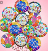 1 dozen Happy Birthday Balloons  Balloon bouquet