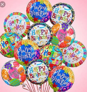 1 dozen Happy Birthday Balloons  Balloon bouquet in Ozone Park, NY | Heavenly Florist