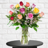 1 Dozen Mixed Roses