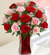 1 or 2 dozen Red and Pink Roses