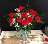 1 Dozen Red carnations Carnations