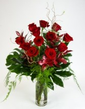 True Love -  Long Stem Red Rose Arrangement