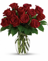 1 Dozen Red Roses Vased Red Roses