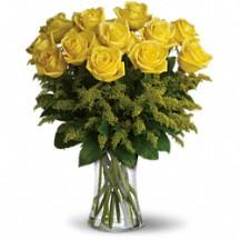 Dozen Yellow  Rose Bouquet