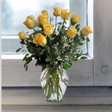 1 Dozen Yellow Roses