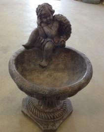 1 piece Angel bird bath~$55.00 concrete