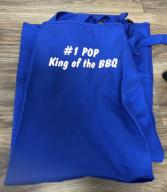 #1 pop apron King of the bbq apron