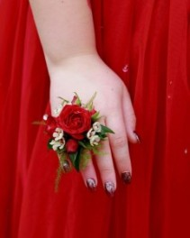 #1 Red Ring Corsage  Prom Corsage