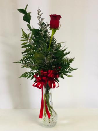 1 Single Rose  Vase Arrangement