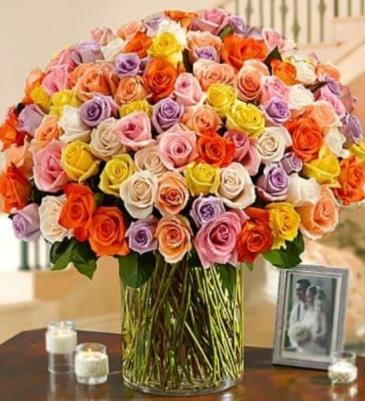 100 PREMIUM LONG-STEM ROSES Assorted Roses