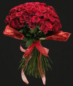 100 Red Roses Bouquet  Special Today! in Miami, FL | FLOWERTOPIA