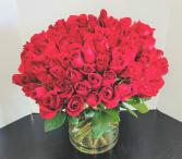 100 Red Roses Luxury Rose Arrangement