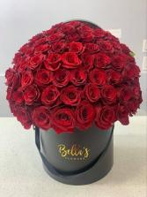 100 Premium Red Rose Box