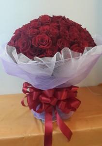 100 Rose in wrap bouquet