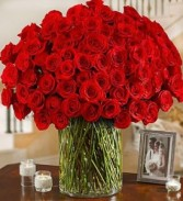 100 Roses for your love Delux Roses Valentine's day