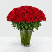 100 Roses Vase of Flowers