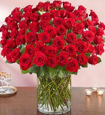 100 Roses Vase Arrangement