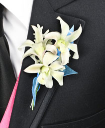 BLUE HEAVEN Prom Boutonniere