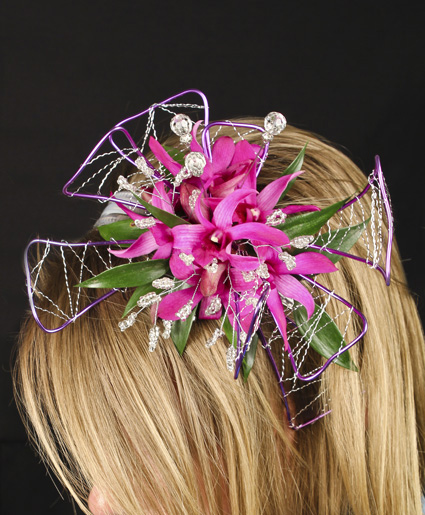Purple paradise prom hairpiece in spring tx towne flowers purple paradise prom hairpiece mightylinksfo