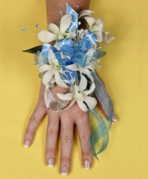 BLUE HEAVEN Prom Corsage in Monument, CO | ENCHANTED FLORIST