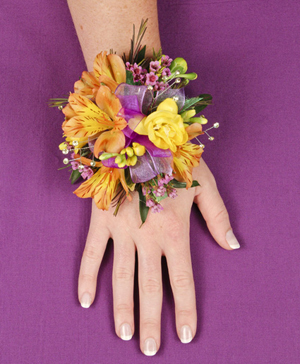 SPRINGTIME SUNSET Prom Corsage in Ozone Park, NY | Heavenly Florist