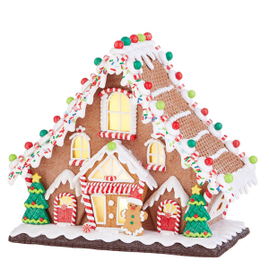 """11.5"""" Gingerbread Lighted Lodge  in Helena, AL 