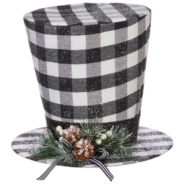 "11"" CHECKED TOP HAT"