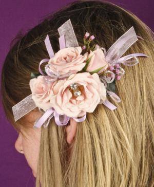 BLUSH PINK Prom Hairpiece in Fort Lauderdale, FL | Flowers Galore