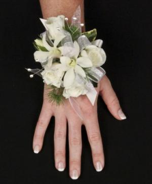SPARKLING WHITE Prom Corsage in Ansonia, CT | EAST SIDE GREENHOUSES, INC.