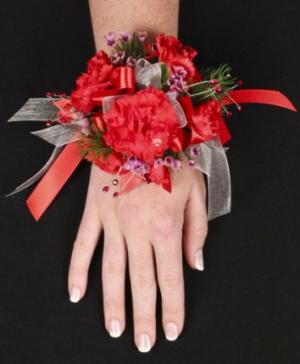 CRIMSON CARNATION Prom Corsage in Ozone Park, NY | Heavenly Florist