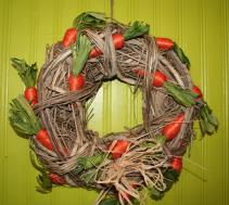 "12"" Carrot Wreath Easter"